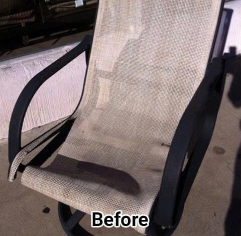 Outdoor Furniture Sling, Strap Replacement & Refinishing
