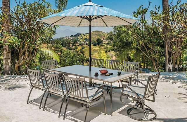 Amari Aluminum Dining Set in Orange County