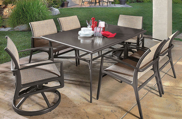 Phoenix Aluminum Dining Set in Orange County