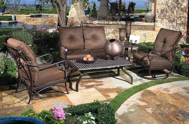 Tustin Aluminum Deep Seating Patio Furniture