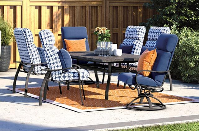 Patio Place Costa Mesa Homecrest Patio Dining Sets