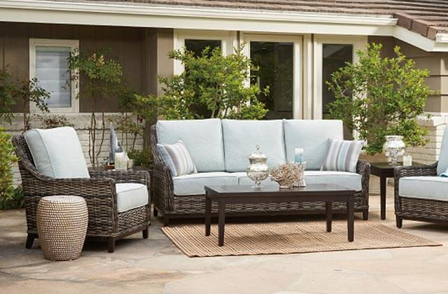 Wicker Deep Seating Patio Sets Custom Cushions Orange County Ca Place Costa Mesa
